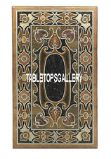 4'x2' Brown Marble Dining Table Pietra Dure Inlay Marquetry Hallway Decor H3302