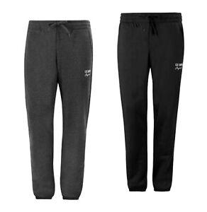 Mens Lee Cooper Drawstring Lightweight Fleece Jogging Pants Sizes from S to XXXL