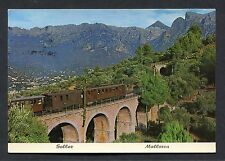 View of a Train at Sollez, Mallorca. Stamp/Postmark - 1976