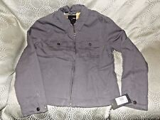 New Boy's Hurley Size Large Vagabond Grey Twill Zip Up Collared Jacket NWT!