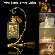 Solar Powered Wine Bottle Cork Fairy LED String Garland Christmas Festival Light