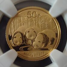 2013 50 Yuan 1/10 Oz 999 Froof Gold Chinese Panda Coin NGC MS70