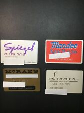 4 Vintage Expired Credit Cards For Collectors - Retail Store Lot 23 (3279)