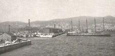 D0536 Porto di Genova - Deposito degli Oli Minerali - Stampa 1930 - Old Print