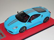 1/18 Looksmart MR Ferrari F430 Scuderia Baby Blue Silver Stripe Leather  25 pcs