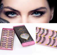 10 Pairs Makeup Beauty Thick Long Cross False Eyelashes Eye Lashes Extension