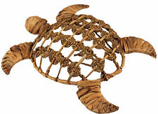More details for rattan wicker sea turtle - 45cm wall hanging decoration