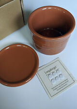 Longaberger Crock w/ Lid Coaster 1 pint Spice, Woven Traditions Pottery Open Box