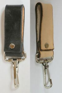 HANDCRAFTED LEATHER KEYCHAIN BELT LOOP KEY RING HOLDER FOB NEW