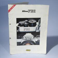 Nikon FE2 Camera * Marketing Booklet Brochure *