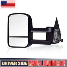 Left Drive Manual Tow Side Mirror fit 99-06 Chevy Silverado/GMC 1500/2500/3500