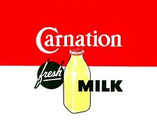"""TIN SIGN """"Carnation Milk""""  Dairy Signs  Rustic Wall Decor"""