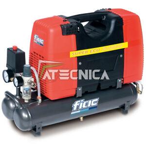 Compresor Aire Silenciado Profesional 9lt fiac Super ECU 2HP 1,5Kw Oil Free