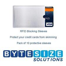 RFID BLOCKING SLEEVE SECURE CREDIT CARD PROTECTOR ANTI THEFT BLOCKER X10
