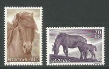 Faroe Is 1993 Local Horses-Attractive Animal Topical (254-55) Mnh