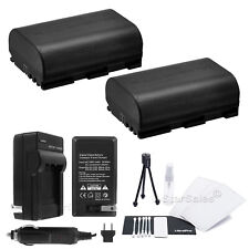 2x LP-E6 Battery + Charger for Canon EOS 7D 60D 5D Mark III