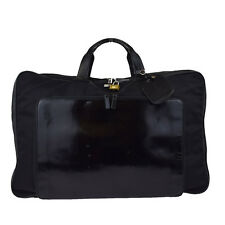 Authentic GUCCI Men's Travel Garment Hand Bag Nylon Leather Black Italy 09W661