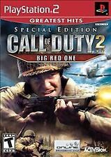 Call of Duty 2: Big Red One Greatest Hits (Sony PlayStation 2 PS2 not enhanced