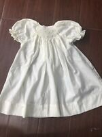 Vintage Petit Ami Hand Embroidered Smocked Pastel Yellow Dress 9 Mo 70 Cms