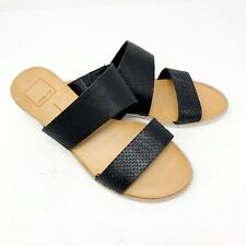 Dolce VitaSandals 7.5 ValaWedge Black Leather Double Strap