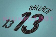 Germany Ballack #13 World Cup 2006 Homekit Nameset Printing