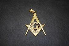 Luxury Gold Classic Freemason Mason Masonic Key Chain Pendant with Necklace TP76