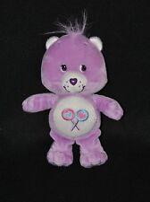 Peluche bisounours CARE BEARS JEMINI Grocadeau mauve violet sucettes 22 cm TTBE