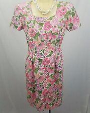 Vintage Maggy London Women's Floral Dress Size 4