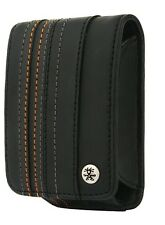 Crumpler Gofer Royale 55 Black / Dark Grey Leather Compact Camera Pouch