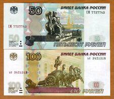 SET Russia, 50;100 rubles, 1997 (2004), P-269c-270c, Ex-USSR, UNC