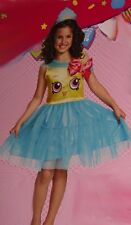 Girls Shopkins CUPCAKE QUEEN Halloween Costume Dress Outfit Small 4 6 6X NEW