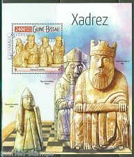 GUINEA BISSAU 2015  CHESS PIECES KING BISHOP KNIGHT & PAWN  S/S MINT NH