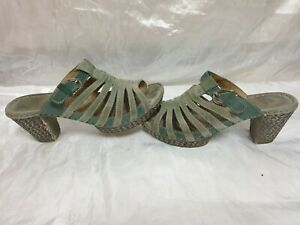 josef seibel womens suede sandals size uk 6 / eu 39
