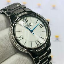 Citizen Eco-Drive Genuine Diamond Dial Ladies Stainless Steel Roman Number Watch