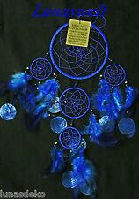 Indianer Traumfänger Dreamcatcher mit Capis Blau 12 cm Durchmesser