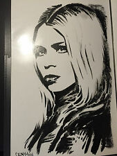 DOCTOR WHO ROSE TYLER BILLIE PIPER COMPANION Painting Portrait by Chris McJunkin
