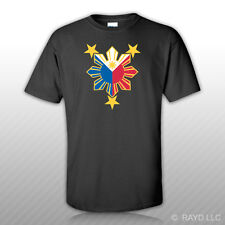 Filipino Pride Star Sun T-Shirt Tee Shirt Free Sticker Philippines