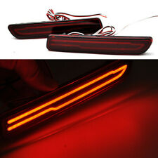 2x Red Led Bumper Brake Reflector Lights For Suzuki Vitara 2015-2019 sx4 06-2017