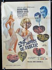 738 Silvia Pinal, 24 HORAS DE PLACER original Mexican movie poster 1969