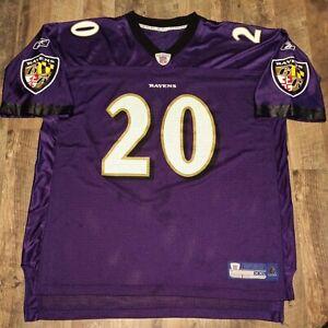 NFL Reebok Baltimore Ravens Ed Reed Purple #20 Jersey Mens Size XXL 2XL