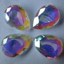 10Pcs Colorful Glass Crystal Prisms Pendant DIY Jewelry Craft Making Art Charm