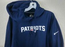 Nike New England Patriots Therma-Fit Pullover Hoodie Sz Large Mens NWOT (I3)