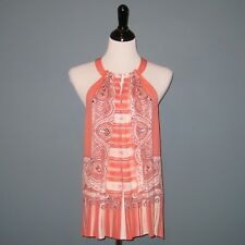 959bcf4e9de0c3 Kobi Halperin 100 Silk Coral Rose  torin Halter  Tunic Top Blouse - L