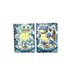 Pokemon Squirtle Blastoise Trading Card Topps #7 #9 Bundle