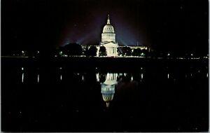 State Capital At Night Charleston West Virginia Postcard