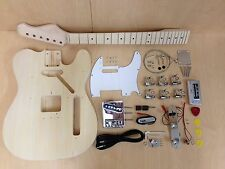 4/4 E-2180DIY Tele Style Electric Guitar DIY Kits,Set Neck,Complete No-Soldering