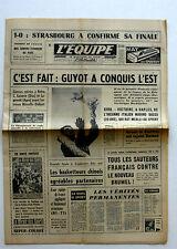 Journal l'Equipe n°6269 - 1966 - Guyot - Strasbourg - Coventry - Goven Jauffret