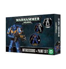 Warhammer 40k Space Marines Primaris Intercessors + Paint Set GWS 60-11 NIB