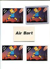 THE SIMPSON'S AIR BART 5 BASEKETBALL CARD LOT  FOX TELEVISION SHOW CARTOONS