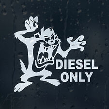Funny Cartoon Taz Fuel Diesel Only Car Decal Vinyl Sticker For Bumper Panel